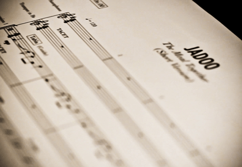 Jadoo recording sessions - manuscript